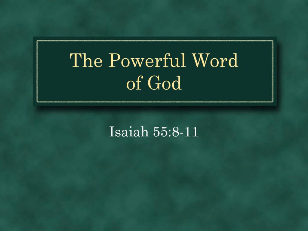 福音事工與神的道